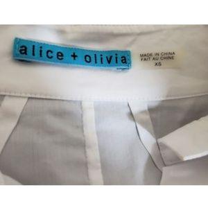 Alice + Olivia Tops - ALICE & OLIVIA Button Down French Cuff Shirt